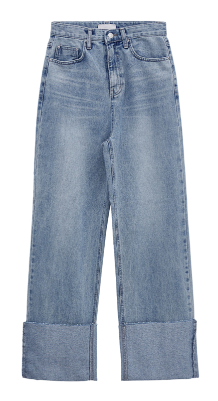 page roll-up wide jeans