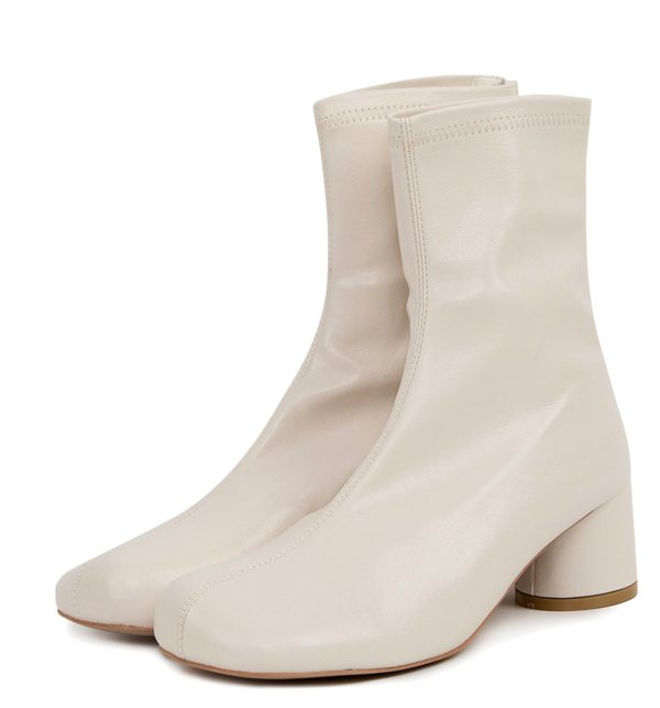 cylinder round toe ankle boots