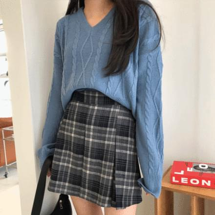 Meat Check Skirt