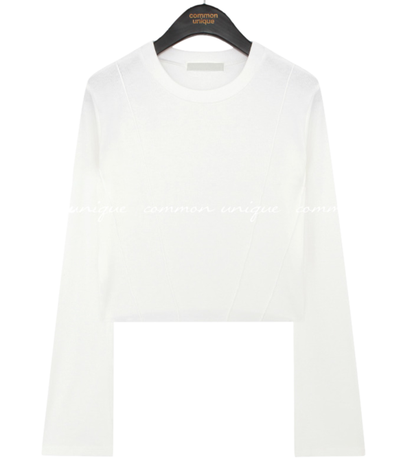 Piping Accent Cropped T-Shirt