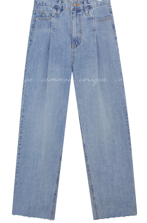 Dart Tuck Accent Long Jeans