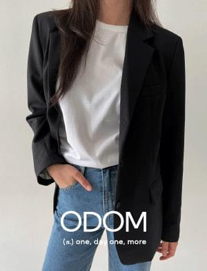 3 Button Classic Wool Jacket - Black
