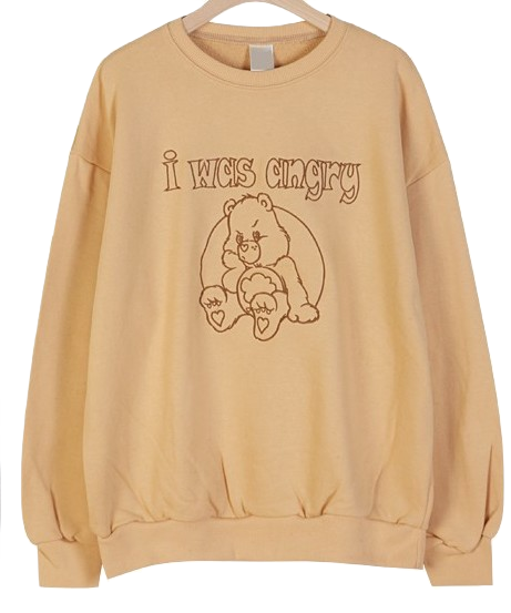 Angry Bear Sweatshirt T Embroidery Point :D
