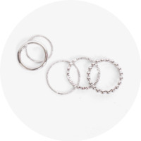 Silver thin 5sets ring 戒指
