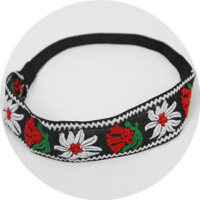 Embroidery Flower-Band