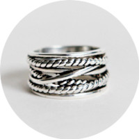 Silver antique twist ring(silver 925)