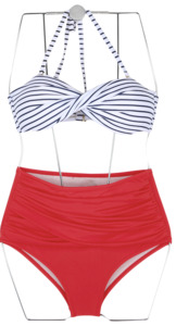 twist stripe bikini (2 colors)