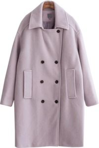 COLOR WOOL OVER COAT