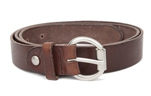 real leather detail belt (3 colors)