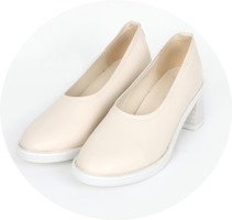 girlish round heel (2 colors)