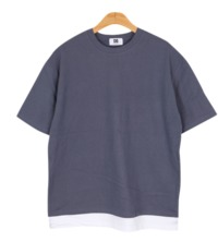 Park Si-shi layered T ★ Unisex public ★ # loose fit # box tee