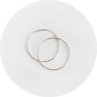 Silver basic ring earring(silver 925)