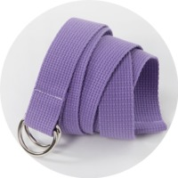 Colorful canvas ring belt_H (size : one)