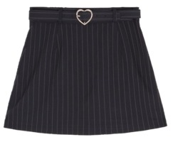 Heart Belt Skirt Pants(Navy)