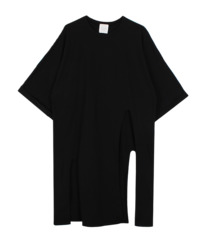 Boxy slit long tee (2color)