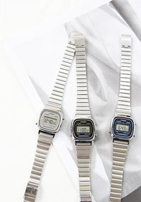 [ACC] CASIO COLOR FRAME SILVER WATCH