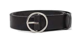 silver ring buckle belt