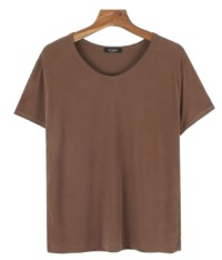 Daily simple basic U-neck tee
