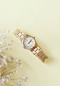Gold Tone Metal Wristwatch