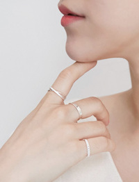 Adore silver ring set_K (size : one)