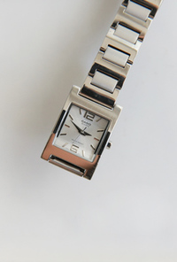 Casio silver frame metal watch