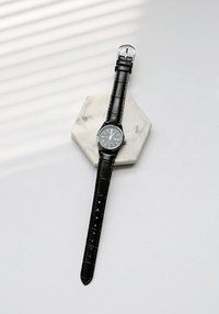 Black Analog Wristwatch