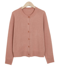 Round button mini cardigan_H (size : free)