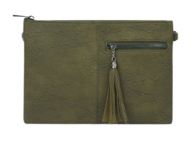 Half zipper clutch