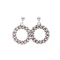 Chain circle earring (silver 925)
