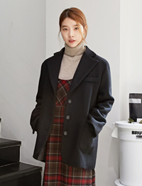 Classic wool single jacket_Y (size : free)