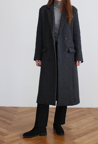 Herringbone long coat179000 → 142000