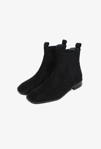 Suede square boots