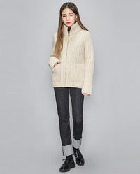 high neck tention cardigan (2 colors)