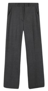 Woolen clean straight slacks
