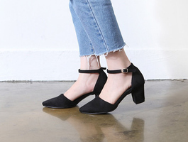 Suede pumps Mary Jane
