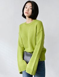 Fresh weather slit knit_H (size : free)