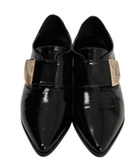 Quarter gold glossy loafer_H (size : 225,230,235,240,245,250)