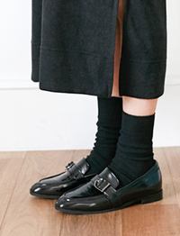 Louis buckle black loafer_H (size : 230,235,240,245,250)