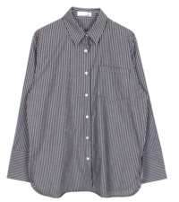 Wide cuffs stripe shirt 襯衫