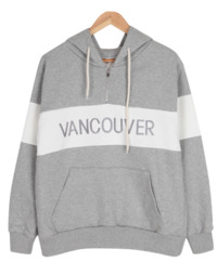 Vancouver anti-parent hoodie # Trendy color block # Anorak