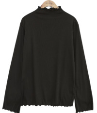 RUFFLE HALF NECK T Long Sleeve