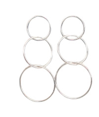 Silver circle drop earring (silver 925)