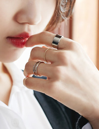 Viva silver ring set_M (size : one)