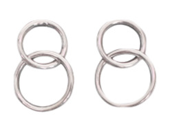 Silver two ring earring (silver 925)