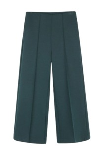 Daily pin-tuck wide pants