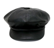 Leather chic hunting cap