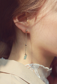 Mint gemstone earring
