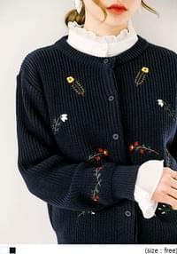 VALENTI FLOWER KNIT CARDIGAN