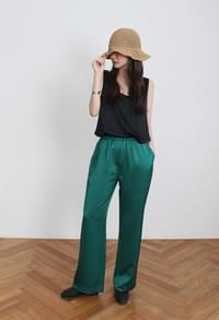 Silky banding slacks (3color)