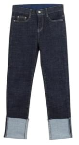 Roll-up denim pants